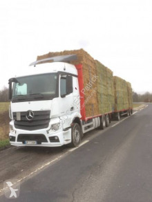 Mercedes Actros 2545 trailer truck used straw carrier flatbed