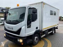 Lastbil med släp platta Iveco Eurocargo ML 80 EL 18