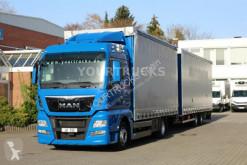 Lastbil med släp skjutbara ridåer (flexibla skjutbara sidoväggar) MAN TGX 18.400 E6 XLX /Xenon/Navi/ACC/LDW/Jumbo ZUG!