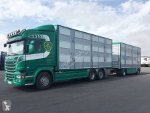 Camion cu remorca Scania R 520 remorcă transport animale second-hand