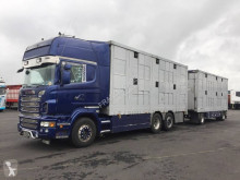 Camion cu remorca Scania R 580 remorcă transport animale second-hand