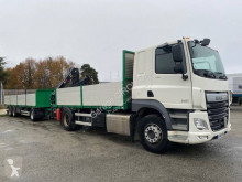 DAF CF85 460 trailer truck used dropside flatbed