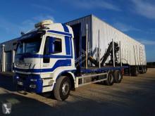 Kamion s návěsem vůz na klády Iveco Eurotrakker