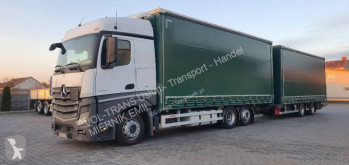 Ciężarówka z przyczepą Mercedes firanka używana