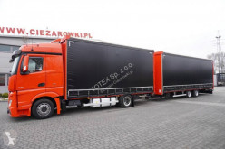 Mercedes Actros 1836 L trailer truck used double deck tautliner