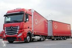 Kamion s návěsem posuvné závěsy Mercedes ACTROS 2545 / JUMBO TRUCK 120 M3 /VEHICULAR/ACC