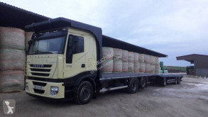 Iveco straw carrier flatbed trailer truck Stralis