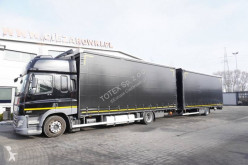 DAF double deck tautliner trailer truck CF75 FA 360