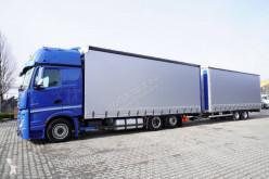 Kamión s prívesom Mercedes Actros 2548 plachtový náves dvojposchodový ojazdený