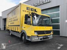 Mercedes Atego 1224 NL trailer truck used dropside flatbed tarp