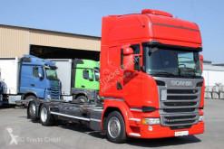 Lastbil Scania R 410 6X2 BDF Jumbo Topline Standklima etade chassi begagnad
