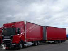Camion remorque Scania R 450/NEW MODEL/JUMBO 120 M3/VEHICULAR/ACC/NAVI rideaux coulissants (plsc) occasion