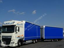 DAF függönyponyvaroló nyerges vontató és pótkocsi XF 510 / JUMBO 120 M3 / 7,75 M + 7,75 M/RETARDER