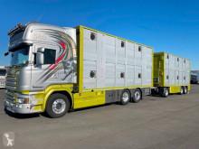 Lastbil med släp Scania R 580 boskapstransportvagn begagnad