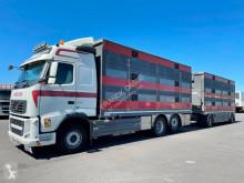 Vrachtwagen met aanhanger Volvo FH 500 Globetrotter tweedehands vee aanhanger