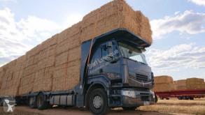 Camion remorque plateau porte paille Renault Premium 460.26 DXI