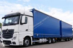 Camion remorque savoyarde plateau ridelles bâché Mercedes Actros 2548