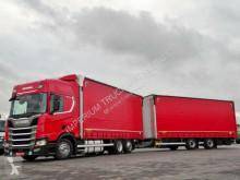 Camión remolque tautliner (lonas correderas) Scania R 450/NEW MODEL/JUMBO 120 M3/VEHICULAR/RETARDER/