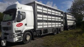 Camion remorque bétaillère porcins Renault Premium 450.19 DXI