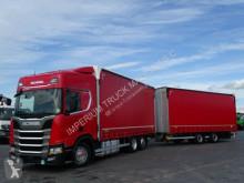 Camión remolque Scania R 450/NEW MODEL/JUMBO 120 M3/VEHICULAR/ACC/NAVI tautliner (lonas correderas) usado