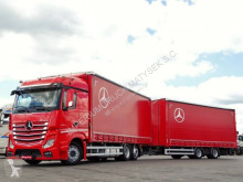 Camion cu remorca Mercedes ACTROS 2545 / JUMBO TRUCK 120 M3 /VEHICULAR/ACC obloane laterale suple culisante (plsc) second-hand