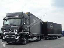 Camion cu remorca Mercedes ACTROS 2545/JUMBO TRUCK 120 M3/VEHICULAR/GIGA S obloane laterale suple culisante (plsc) second-hand