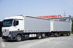 Camión remolque Mercedes Actros 2548 lonas deslizantes (PLFD) usado
