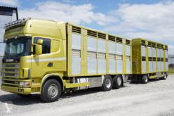 Camion remorque bétaillère porcins Scania R 164