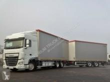 Ciężarówka z przyczepą firanka DAF XF 460 / JUMBO TRUCK / RETARDER /ACC / EURO 6