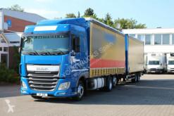 Ciężarówka z przyczepą firanka DAF XF 460 /Plane/Retarder/kompletter Zug/Durchlade