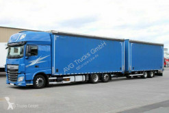Camion remorque rideaux coulissants (plsc) DAF XF460 XF 460 Pritschen-Jumbozug Durchlade Lenkachse