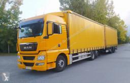 Ciężarówka z przyczepą firanka MAN TGX 18.440 XL