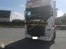 Camion remorque Scania R 520 plateau porte paille occasion