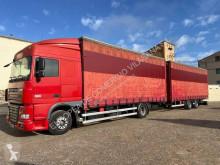Ciężarówka z przyczepą firanka DAF XF105 FA 460