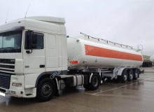 DAF XF95 XF95 480 tractor-trailer used oil/fuel tanker