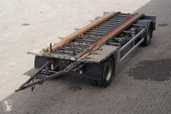 Container aanhanger 2-assig/ Stuuras trailer used container