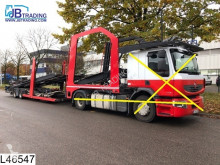 ensemble routier porte voitures accidenté