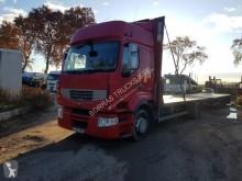 Tractora semi caja abierta transporta paja usada Renault Premium 460 EEV