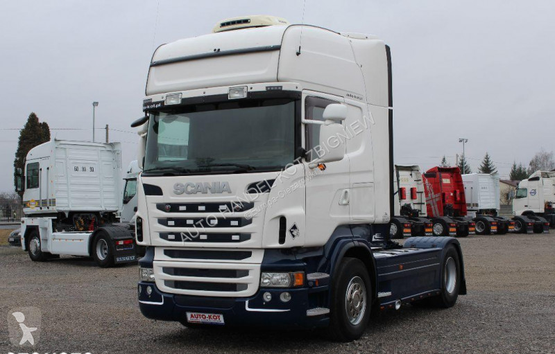 Vedere le foto Autoarticolato Scania R480 PDE /EURO 5/ TOPLINE/ AD BLUE / /LODÓWKA/ STANDARD /RETARDER/**SERWIS**/ STAN IDEALNY /