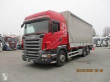 Conjunto rodoviário caixa aberta com lona sistema tecto deslizante Scania R 500