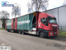 Fruehauf Middenas Load-through system, Roof height is adjustable, Disc brakes, Borden, AS, EURO 5, Retarder, Airco, Combi trailer truck