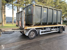 remorque Kaiser Container slede / platte aanhanger - porte container + plateau - Belgische papieren - SAF assen - Schijfremmen