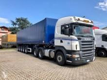 Ensemble routier savoyarde système bâchage coulissant Scania R 560