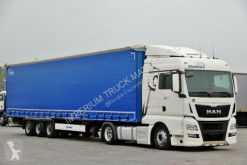 Ensemble routier MAN TGX 18.440/ACC/LOW DECK/ EURO 6 + KRONE MEGA/BDE porte engins occasion