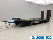 Low bed trailer trailer used heavy equipment transport