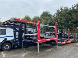 Vrachtwagen met aanhanger 2 AS + FORMULA CARTRANSPORTER tweedehands autotransporter