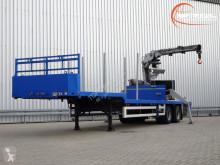 Полуремарке Floor FLO-12-18-19.5 BPW 2 assige Semi Dieplader - Kennis 14000-R Kraan, Crane, Kran превоз на строителна техника втора употреба