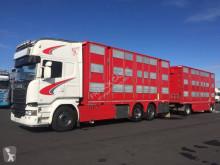 Scania R 580 tractor-trailer used livestock trailer
