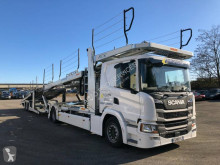 Scania P 410 tractor-trailer used car carrier