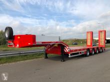 Heavy equipment transport semi-trailer LW4 with hydraulic foldable ramps 300